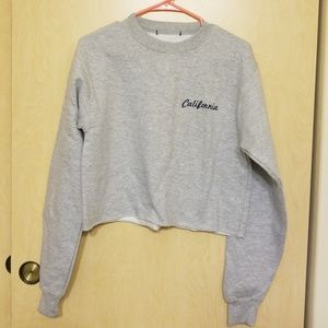 NWOT Brandy Melville Crop Sweatshirt